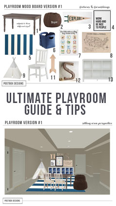 Ultimate Playroom Design Mood Board by Postbox Designs E-Interior Design