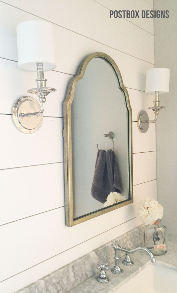 Fixer Upper Bathroom: Builder Basic Bath Makeover by Postbox Designs,