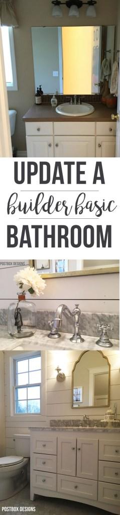 Update a Builder Basic Bathroom: Fixer Upper Bath by Postbox Designs