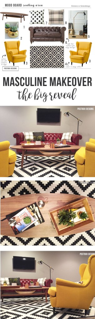 Masculine Decor: A Man Cave Office by Postbox Designs
