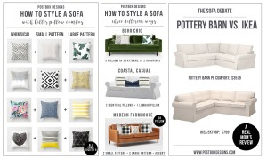 One Room Challenge Week #2: How to Style a Sofa +Pillow Combos Cheat Sheet