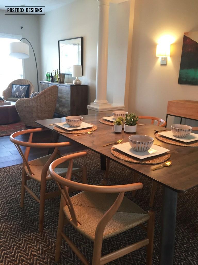 modern dining room makeover reveal 1 minute easy centerpiece modern dining room makeover by postbox designs west elm all modern dining room