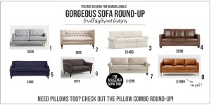 8 Sofas for Every Budget + The Perfect Pillows To Style Them