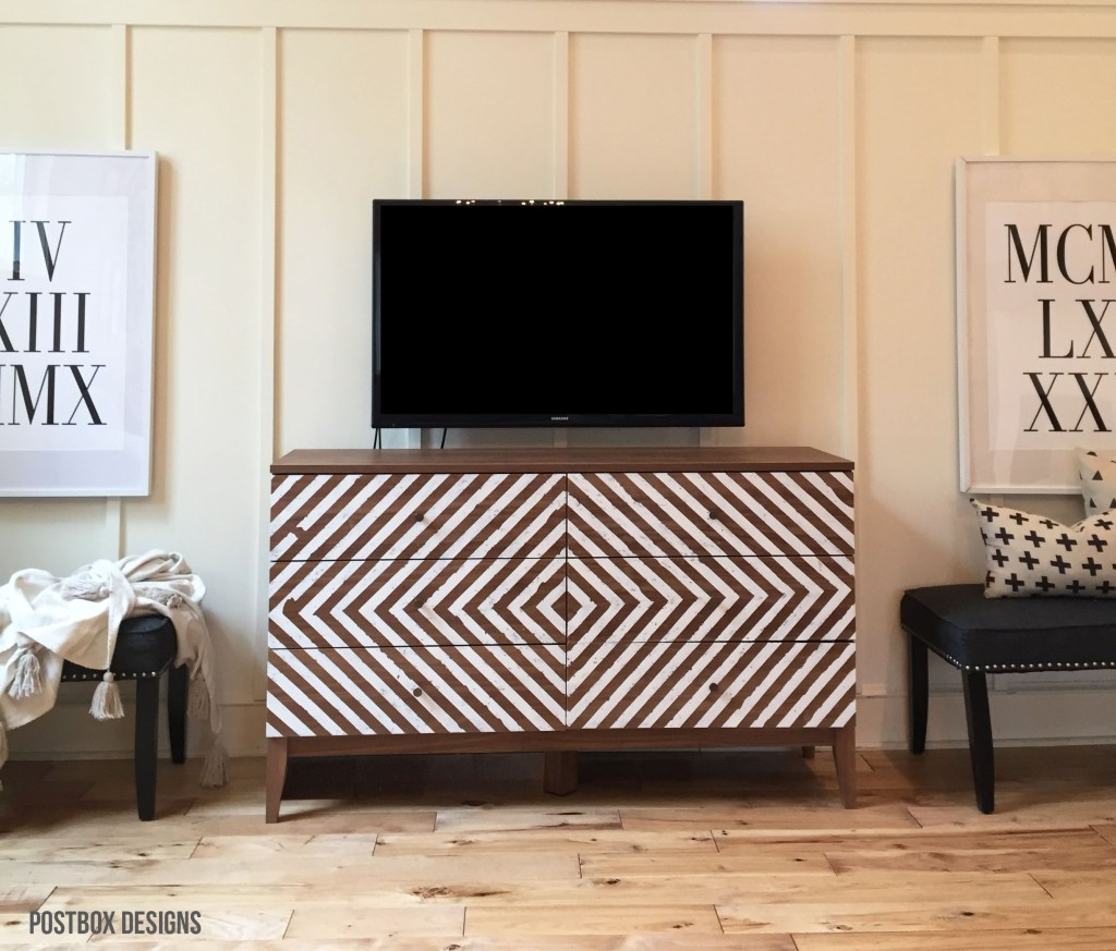One Room Challenge: Target Dresser Budget Farmhouse Makeover by Postbox Designs