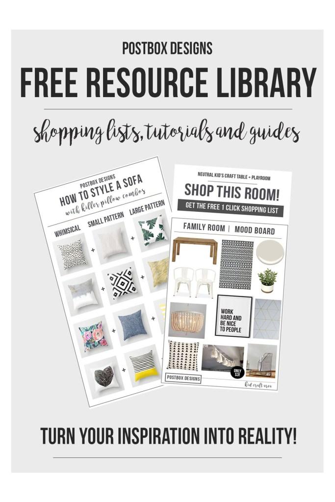 Interior Design Freebie Library Printables