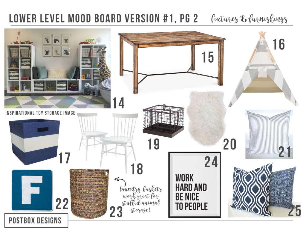 5 Ways to Transform Your Basement + Real Postbox Project Room Makeover by Postbox Designs Interior E-Design