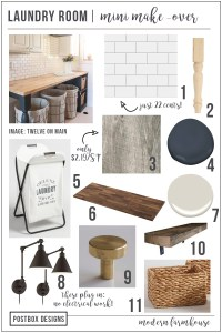 5 Day Design Challenge: Day #3 Laundry Room Makeover + FREE Mood Board