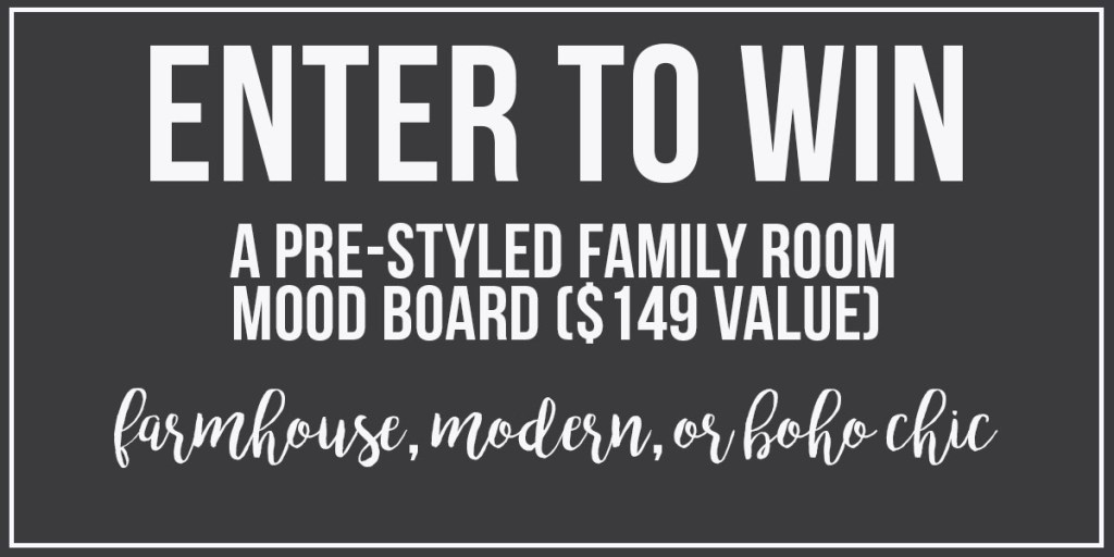 "Pre-Styled ""Choose Your Style"" Design Mood Boards for $149, Choose from Farmhouse, Modern, or Boho Chic Style for your Family Room, by Postbox Designs E-Design"
