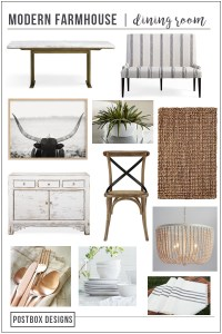 Create Your Dream Farmhouse Dining Room with a Free Mood Board + Shopping List