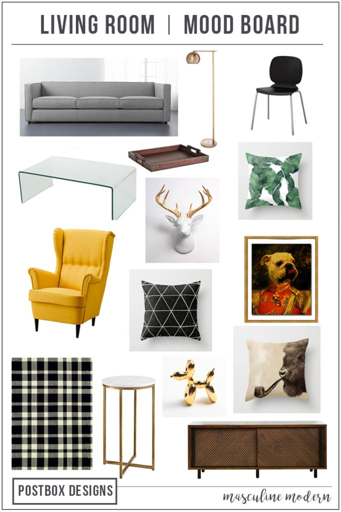 Modern Style on a Budget-How to Get the Look! Modern Living Room Mood Board by Postbox Designs E-Design