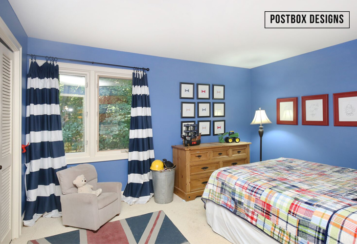 """Before"" of the One Room Challenge Boy's Adventure Bedroom Makeover by Postbox Designs Interior E-Design"