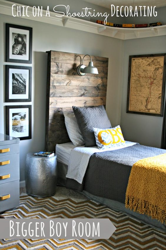 How To Choose Kid's Bedroom Furniture Your Children Won't Destroy! By Postbox Designs, Boy's Adventure Bedroom Makeover for One Room Challenge. Image Credit: Chic on a Shoestring Budget