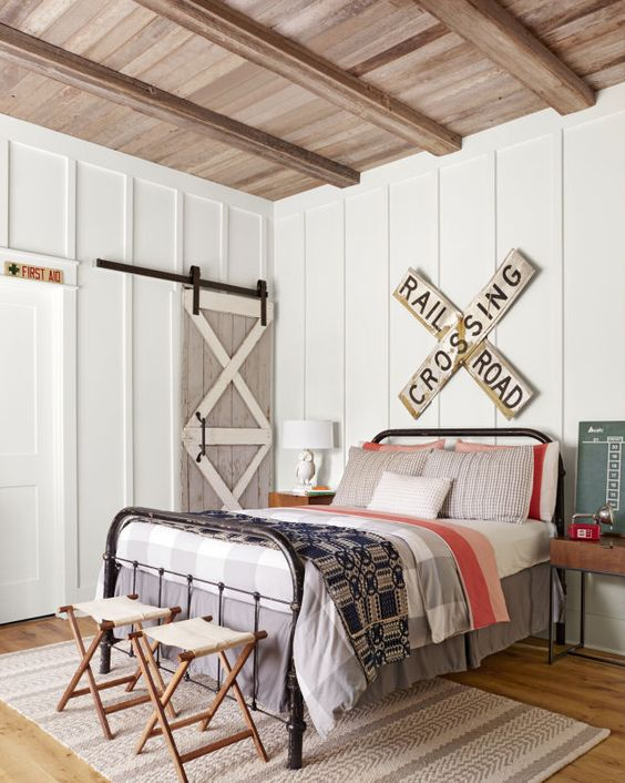 How To Choose Kid's Bedroom Furniture Your Children Won't Destroy! By Postbox Designs, Boy's Adventure Bedroom Makeover for One Room Challenge. Image Credit: Country Living