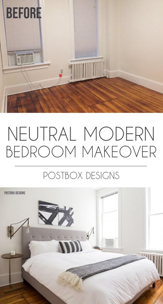 Postbox Designs E Design Neutral Modern Boho Bedroom Makeover Decor