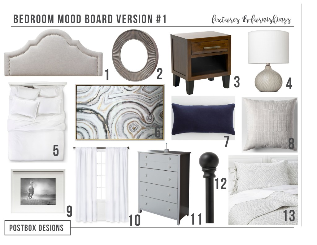 Postbox Designs Interior E-Design: Budget Friendly Bedroom Makeover using online design, Bedroom Design Ideas