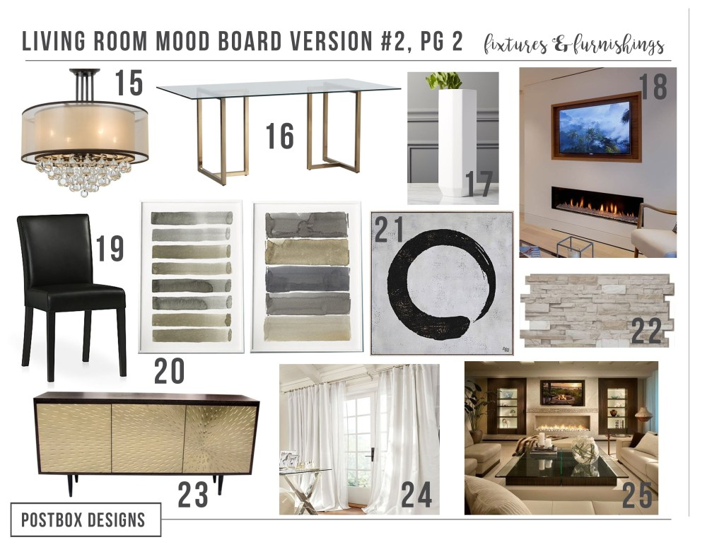 Glam Neutral Living Room & Dining Room Makeover: 2 Different Ways ...