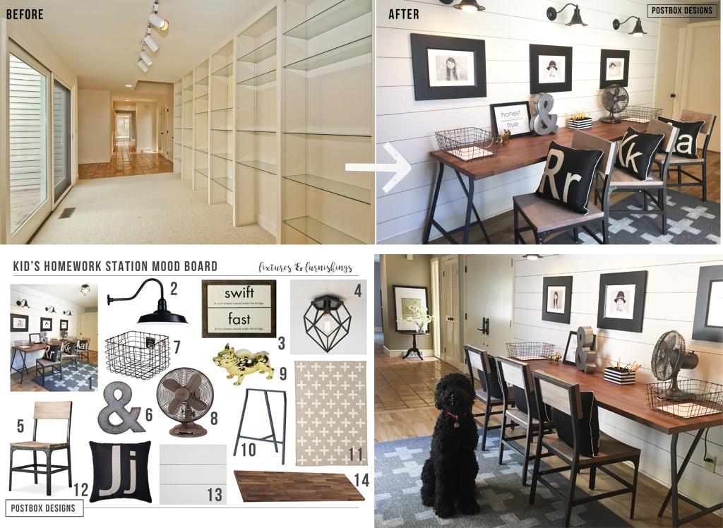 postbox designs interior e design kids homework station makeover get the free mood - Interior Design List