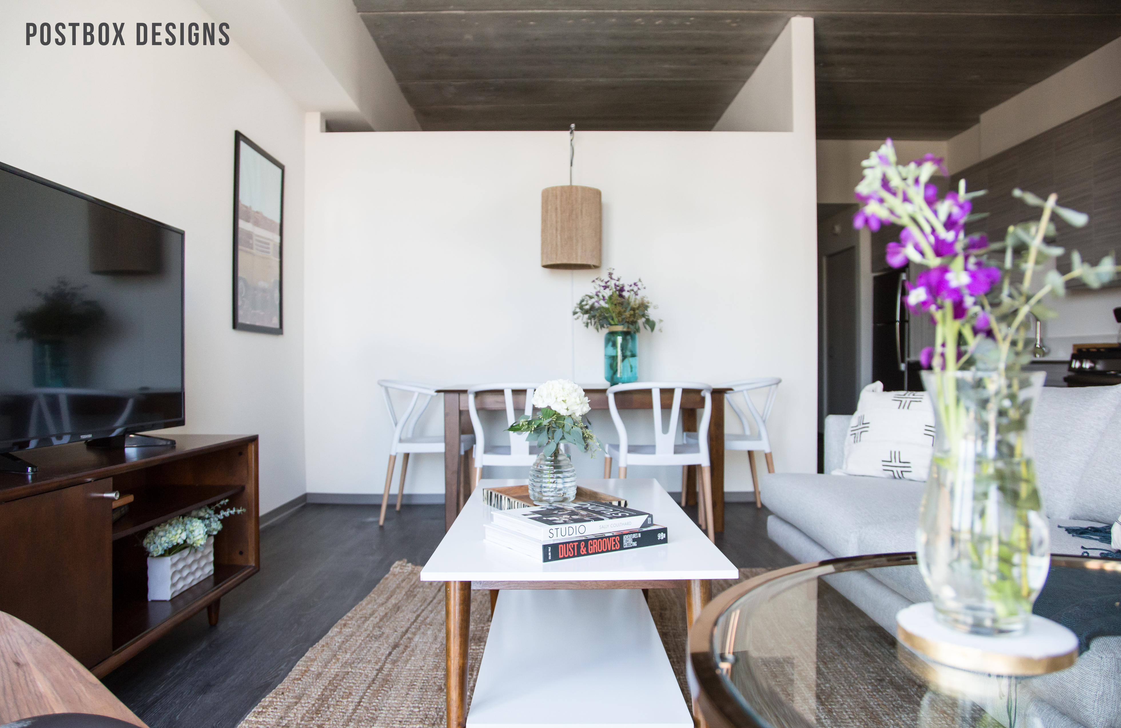 See the Reveal! Modern Boho Dining Room Makeover - Postbox Designs