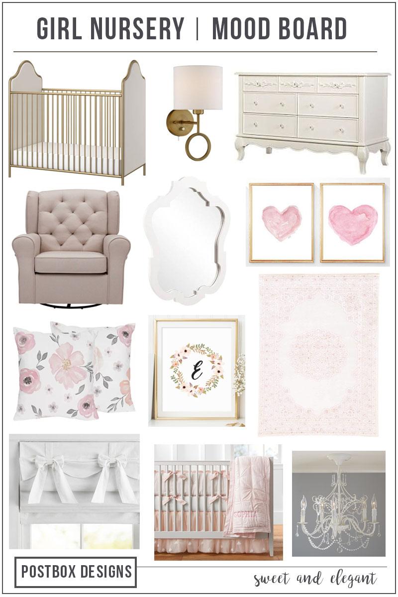 Postbox Designs Interior E Design: 3 Bedroom Designs: Girl Nursery Decor,  Tween