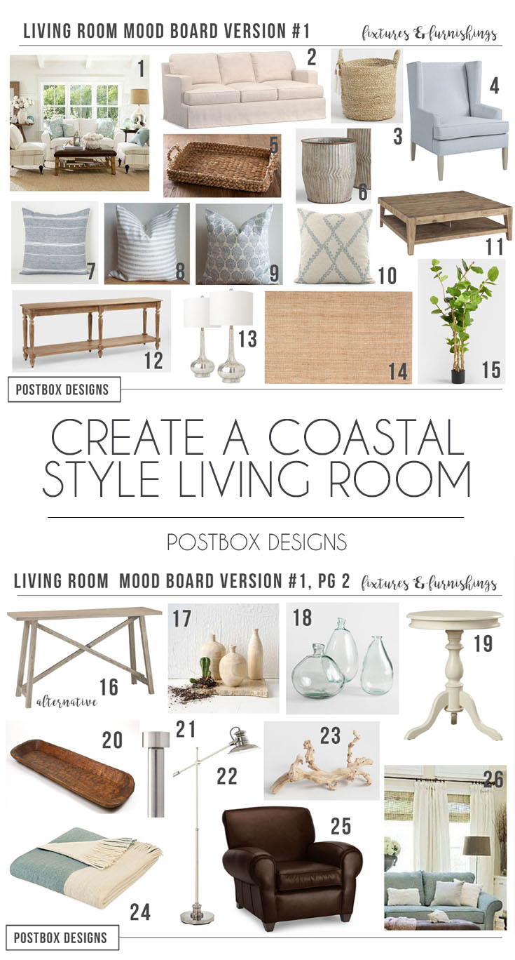 Design Rooms Online Get The Modern Coastal Look For Your Living Room Minus The