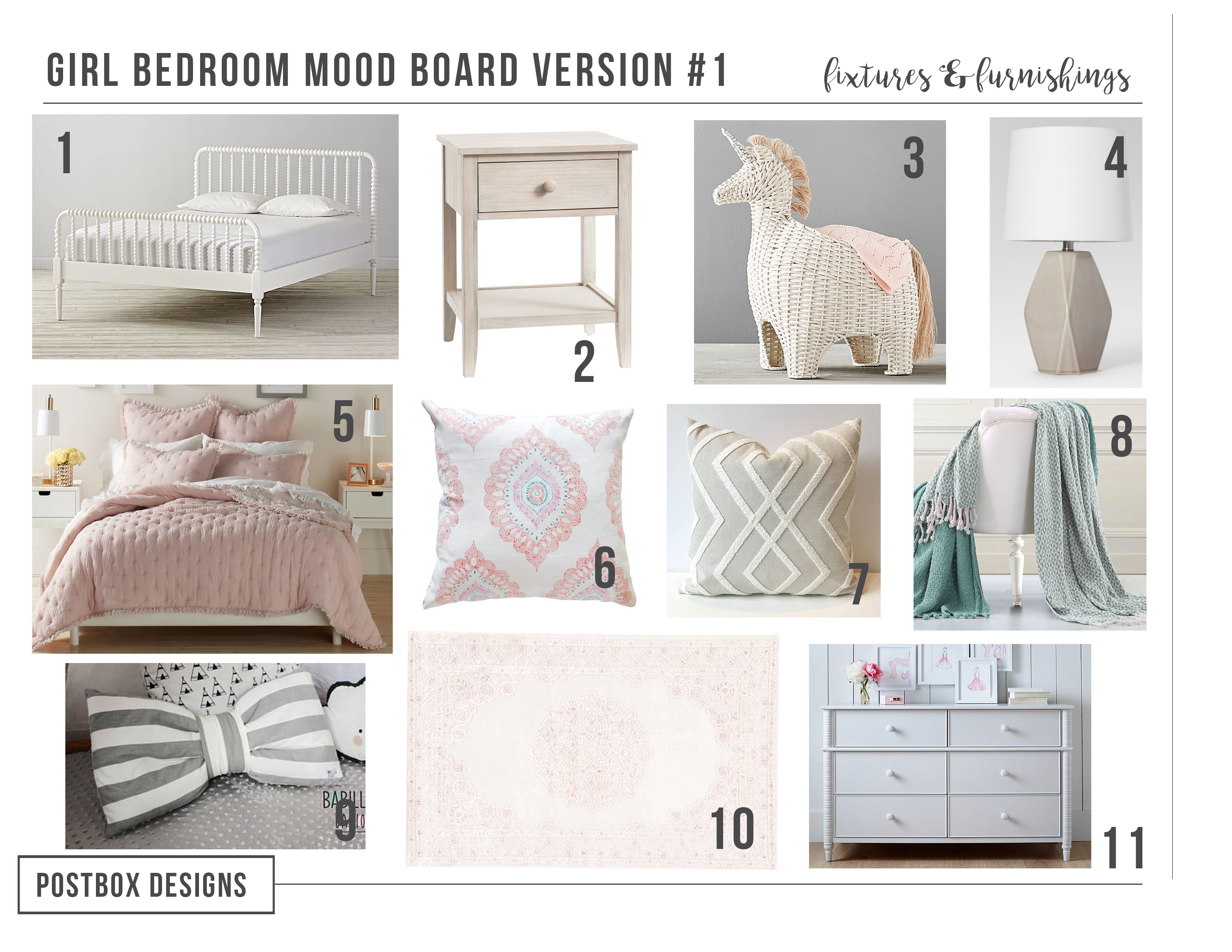 Postbox Designs Interior E Design: Little Girlu0027s Bedroom Makeover: See The  Before U0026
