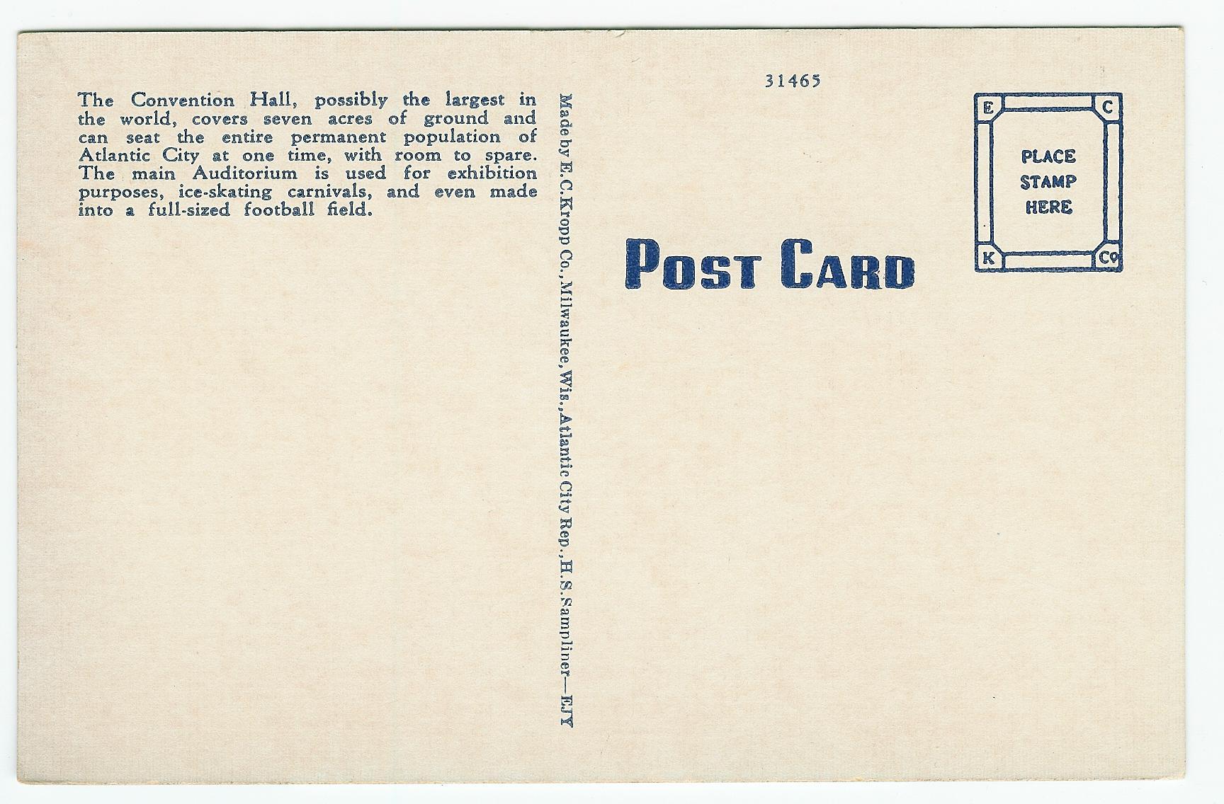 Modern Sale Convention Hall By Atlantic Reverse Postcard Blog International Postcard Stamps Postcard Stamps Auditorium inspiration Post Card Stamps