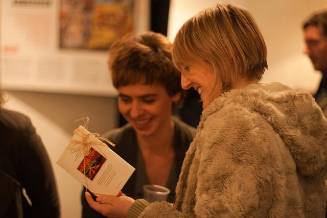 Paula Strzelecka at the exhibition launch in Dublin. Photo by Paul Reynolds