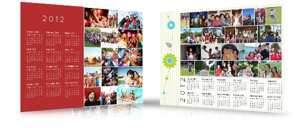 Make a Custom Calendar from your photos on Facebook Design Studio - create a picture calender