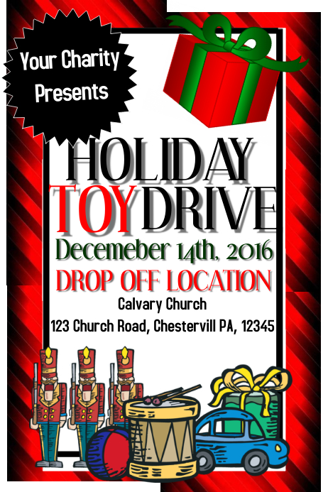 Toy Drive Toys For Toys Charity Template Postermywall