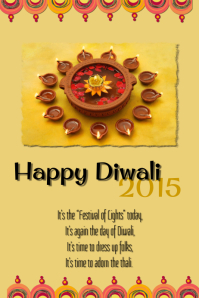 Happy Diwali Hd Wallpaper With Quotes Diwali Poster Templates Postermywall