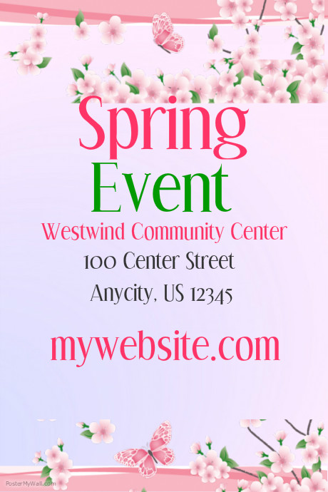 Spring Event Flyer Template Costumepartyrun