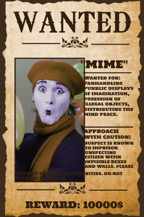 funny wanted poster sayings