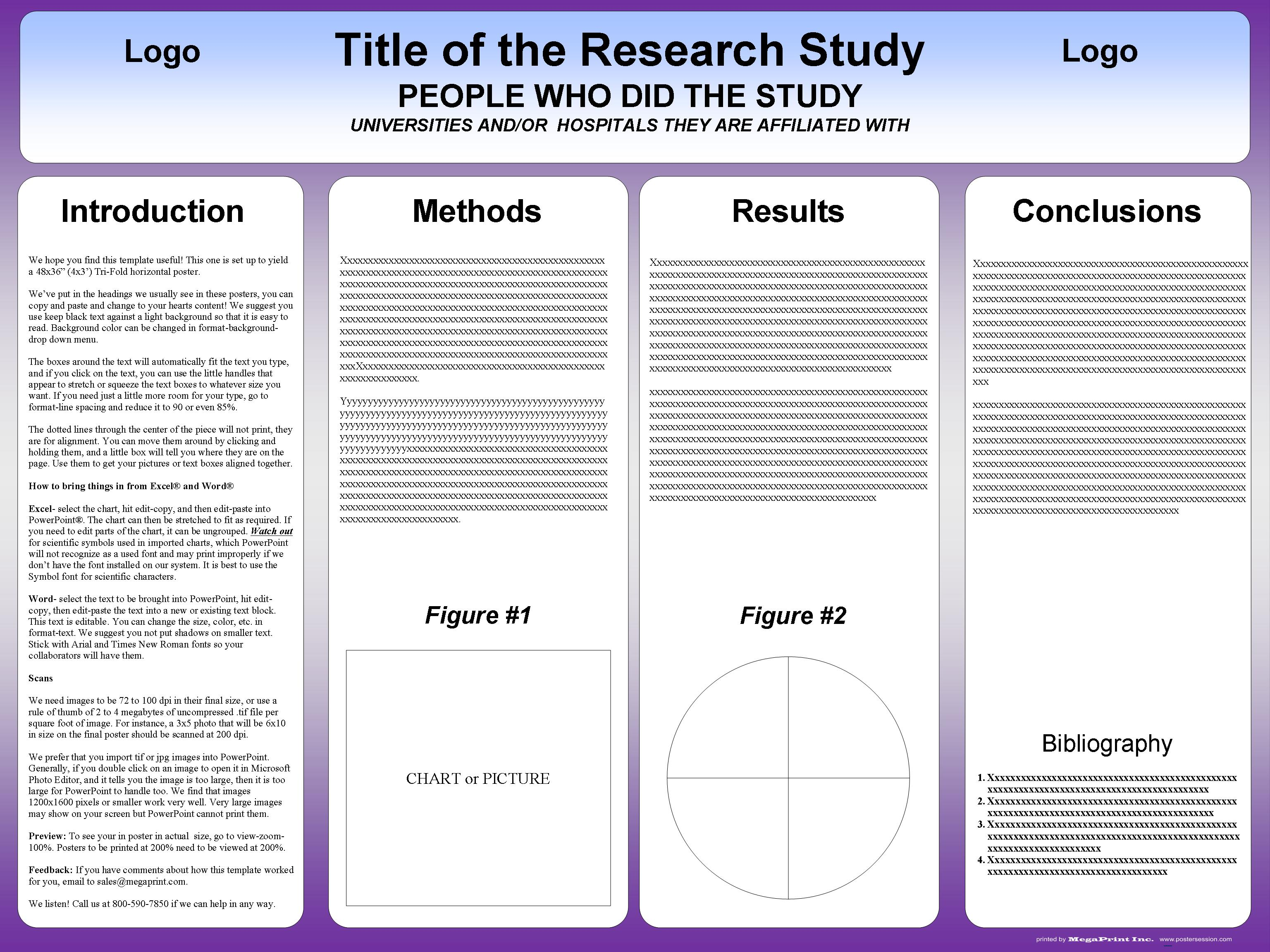 research poster template microsoft word sample resumes sample research poster template microsoft word research poster templates in microsoft word adobe 36x48trifoldtemplate2purple