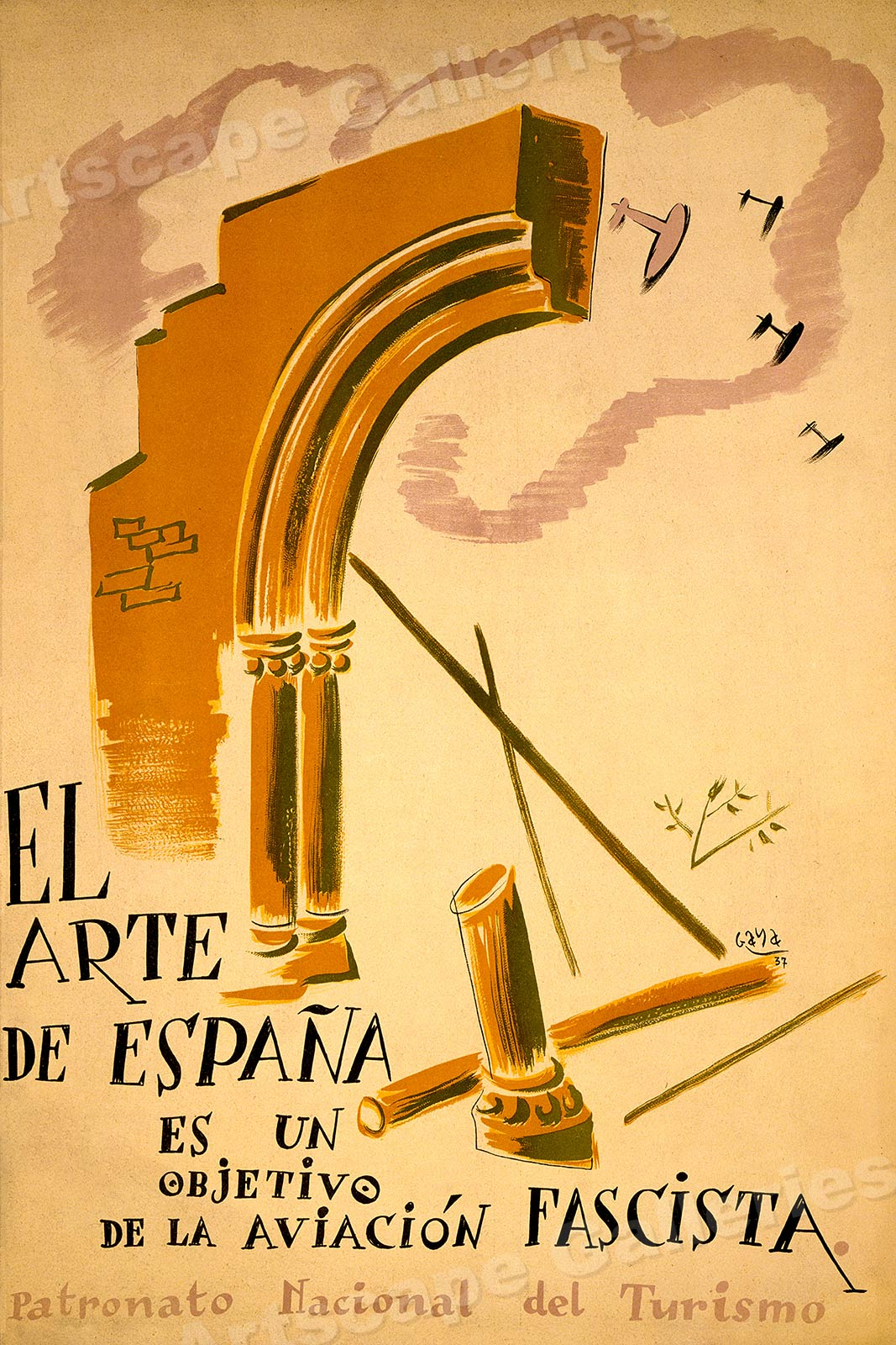 La Arte In Spanish El Arte De Espana 1930s Spanish Civil War Poster 24x36 Ebay