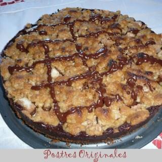 Tarta de Chocolate con Crumble de Pera
