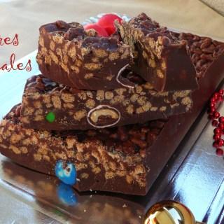 Turrón de Chocolate Crujiente de Avena