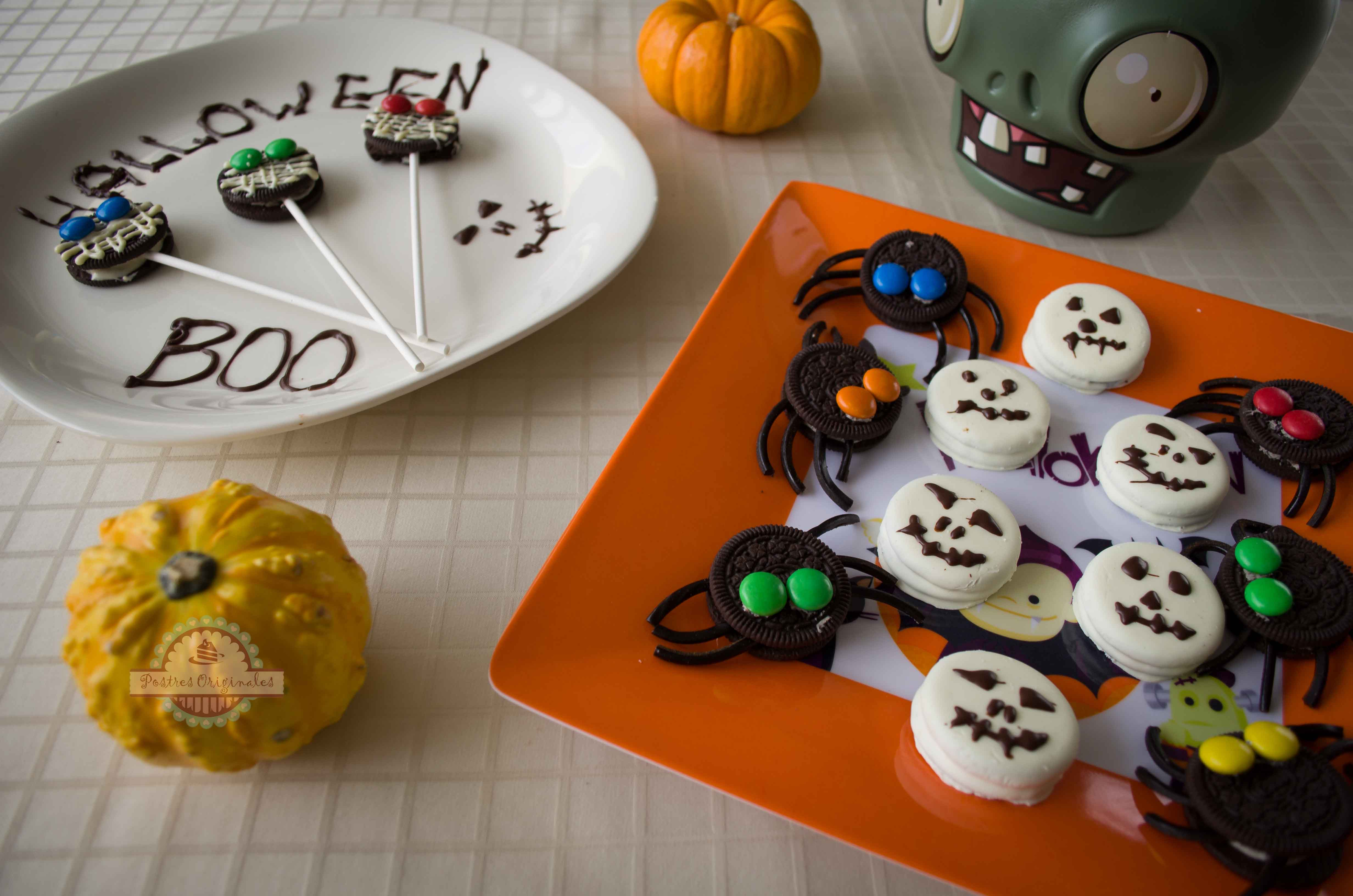 Ideas Para Decorar Galletas Ideas Para Halloween Con Galletas Oreo Postres Originales