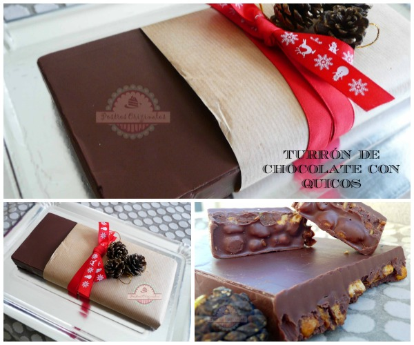 Turrón de Chocolate con Kikos Collage