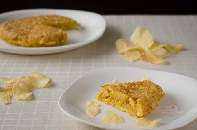 Tortilla de Patatas Chips o Patatas Fritas