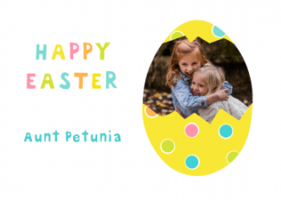happy easter personalised greeting card