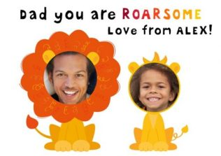 Roarsome - funny personalised Father's Day card