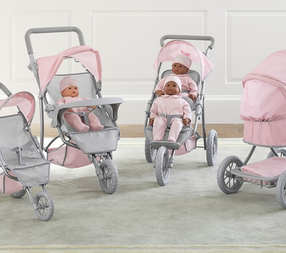 Double Jogging Stroller Clearance Double Doll Jogging Stroller Pottery Barn Kids