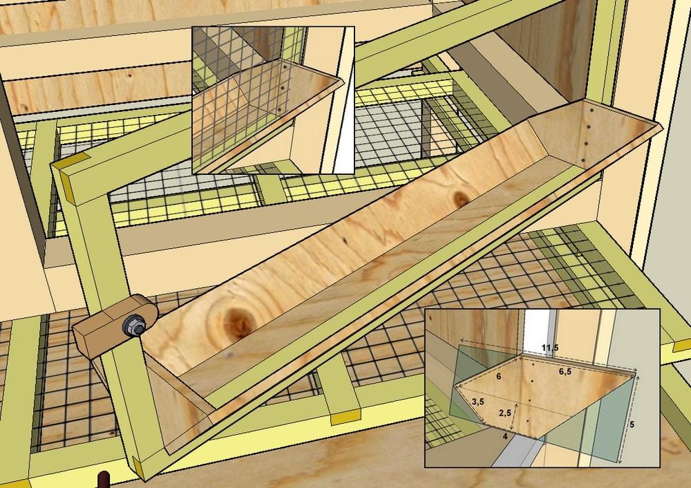 Construction de cages d levage des cailles plan for Construire une cabane a lapin exterieur