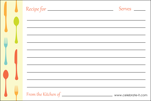 recipe card template for microsoft word - Minimfagency - free card templates for word