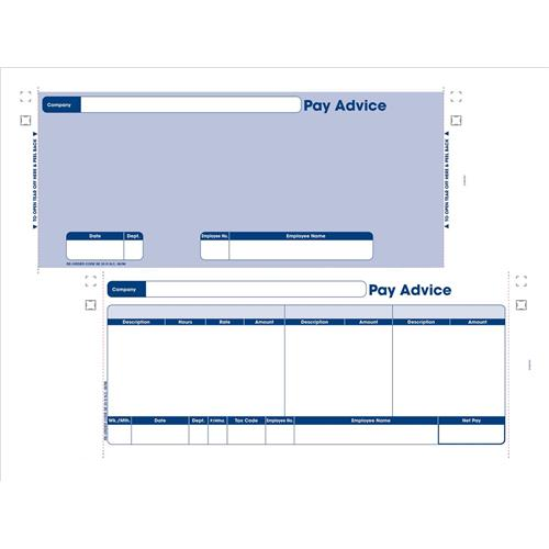Sage Compatible Security Pay Advice Slip with File Copy 3-Part