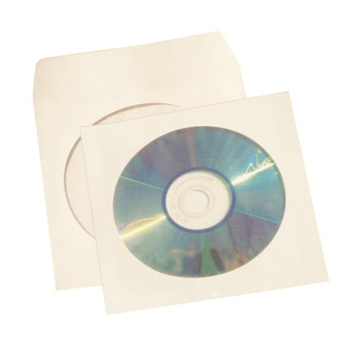 5 Star Office CD / DVD / Blue-Ray Disc Envelope Sleeve with Window - office cd