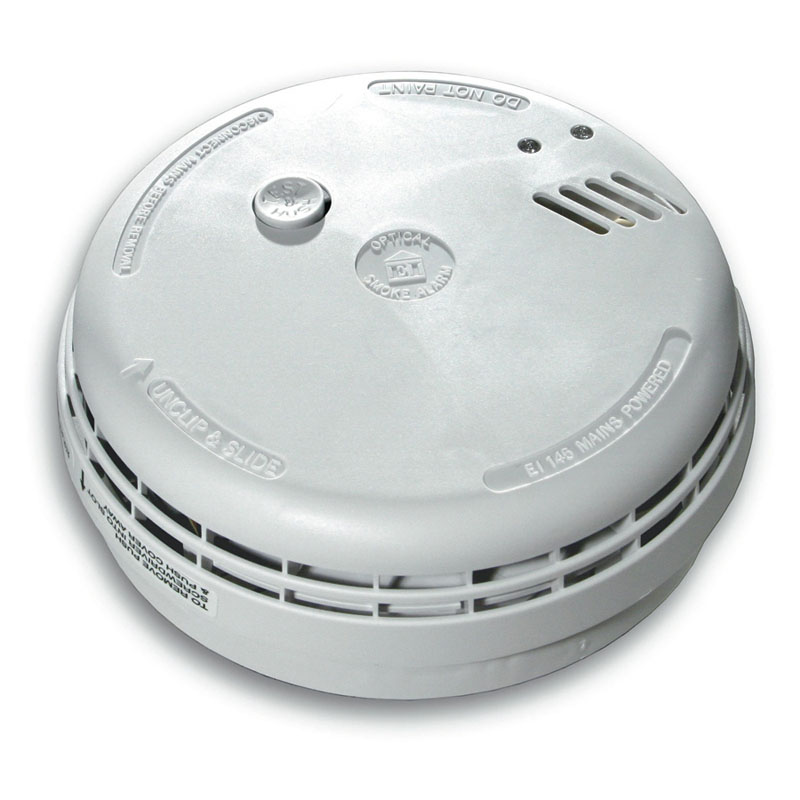 Bathroom Mirrors With Shaver Sockets Aico Ei146 Optical Smoke Alarm - Mains Powered