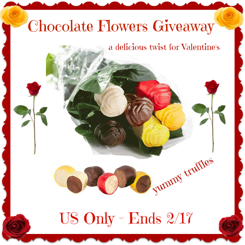 chocolate flowers button