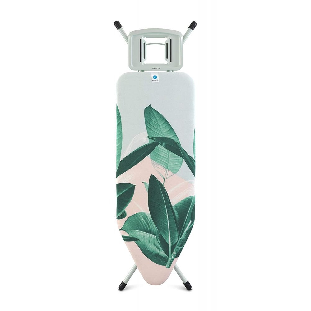 Brabantia Contact Brabantia Ironing Board C 124 X 45cm Solid Steam Iron Rest Tropical Leaves