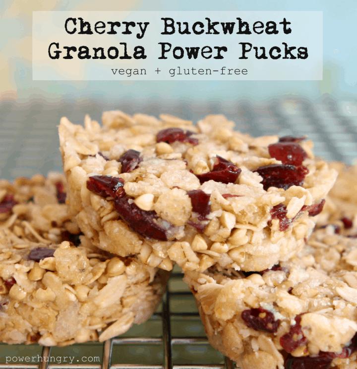 Cherry-Buckwheat Granola Pucks {vegan + gluten-free + no ...